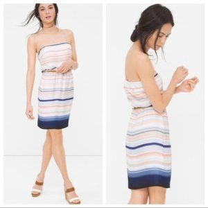 White House Black Market Striped Blouson Sundress